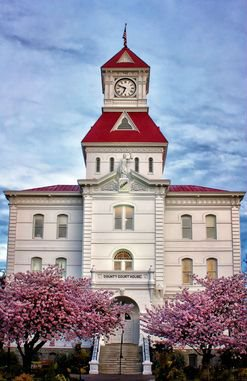 "Best Corvallis Area Photo: Gary Thurman, ""Spring Courthouse"""